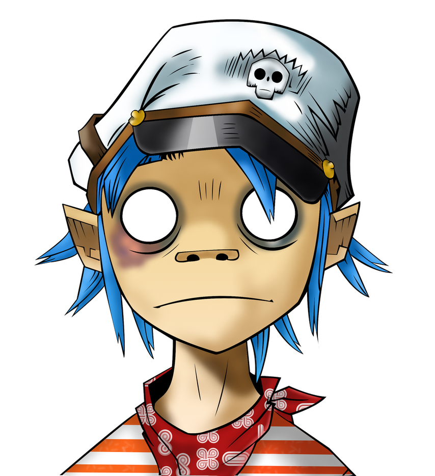2D of Gorillaz made with Gimp by buggzz