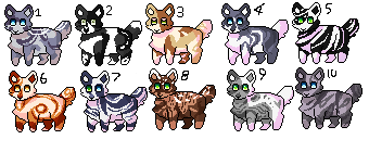 Kitty kat Adopts (CLOSED) by NormalGirl5505