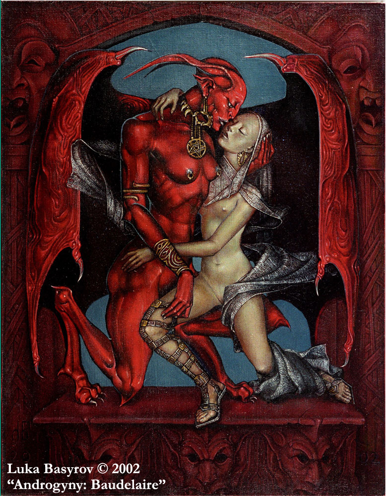 Androgyny: Baudelaire by luka-basyrov-art