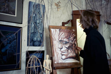 Me working by luka-basyrov-art