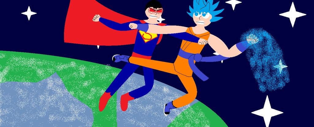 Goku vs Superman by SonGokuSSJgodssj