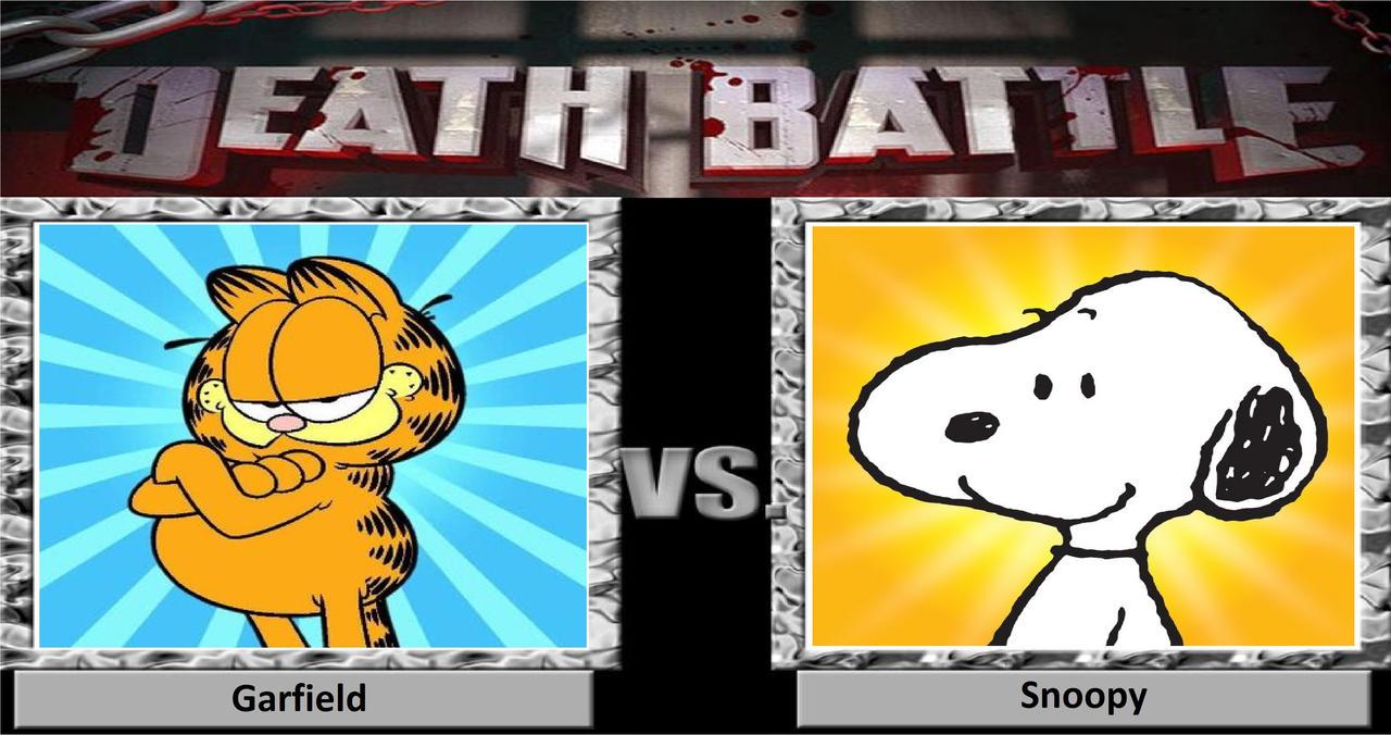 Death Battle Garfield Vs Snoopy By Songokussjgodssj On Deviantart