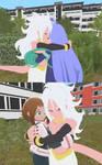 (Request) 21 hugs Nejire and Uraraka
