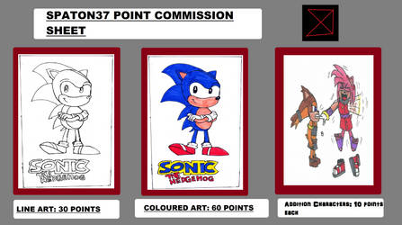 Brand New Commission Sheet