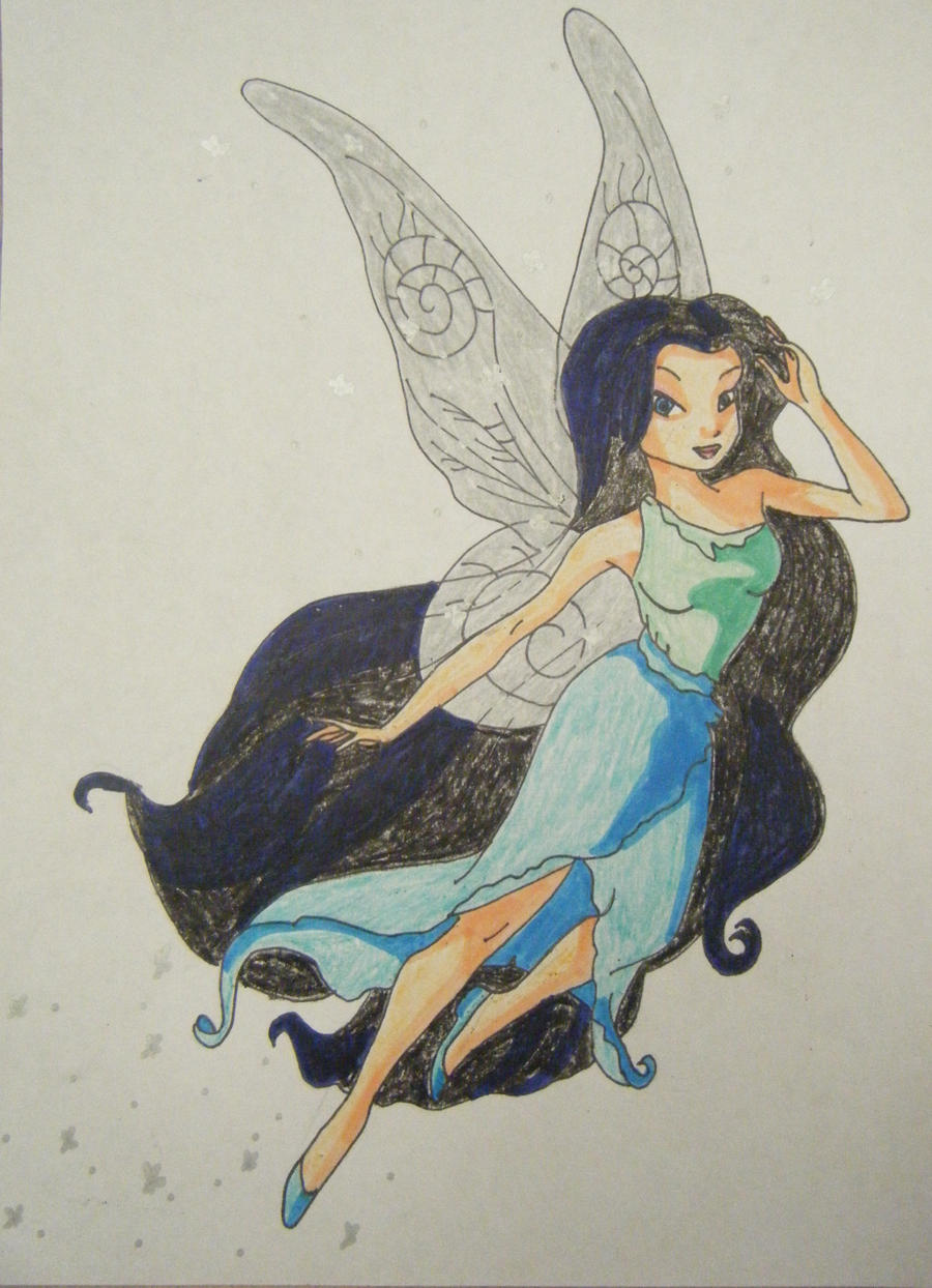 Water fairy drawing