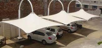 Tensile Car Parking Structure in Chandigarh by fabchandigarh