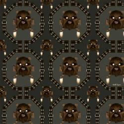 Pattern Chewbacca - Space Invader by GeekLangel