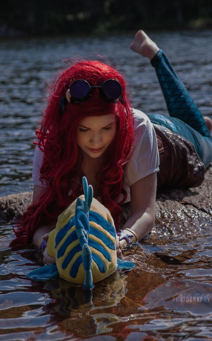 Ariel and flunder by Elfen-Lena