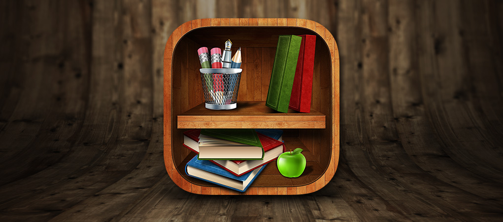 The Bookshelf iOS Icon by expressivemediauk