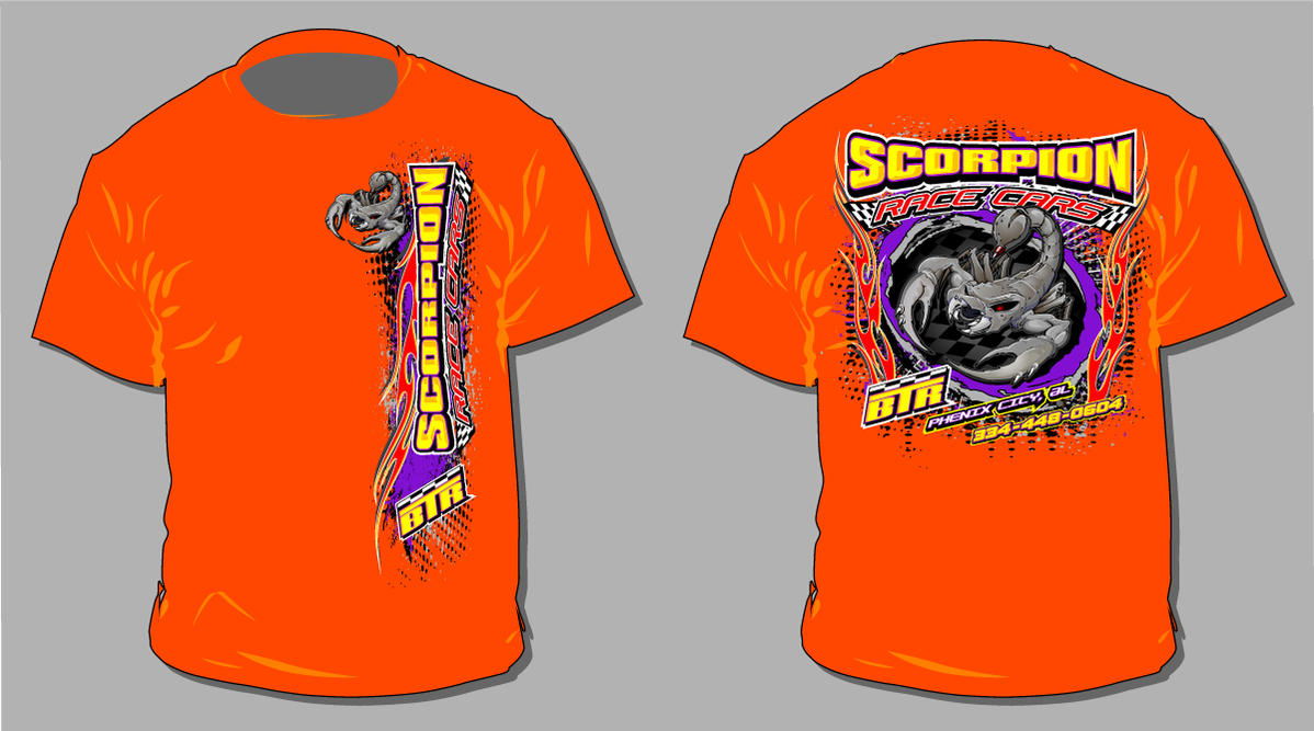 scorpion race cars 2011 shirt by bruceb7 on deviantart