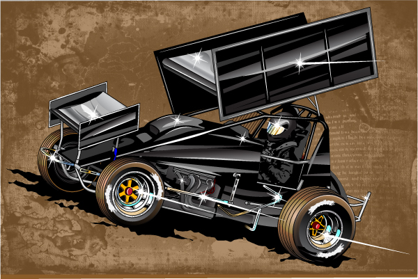 Sprint Car Vector 1 By Bruceb7 On Deviantart
