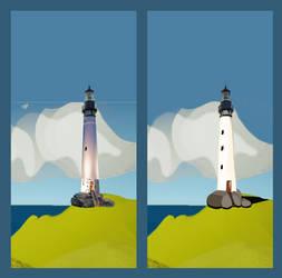 Far (Away) Lighthouse concept art by Alverspin