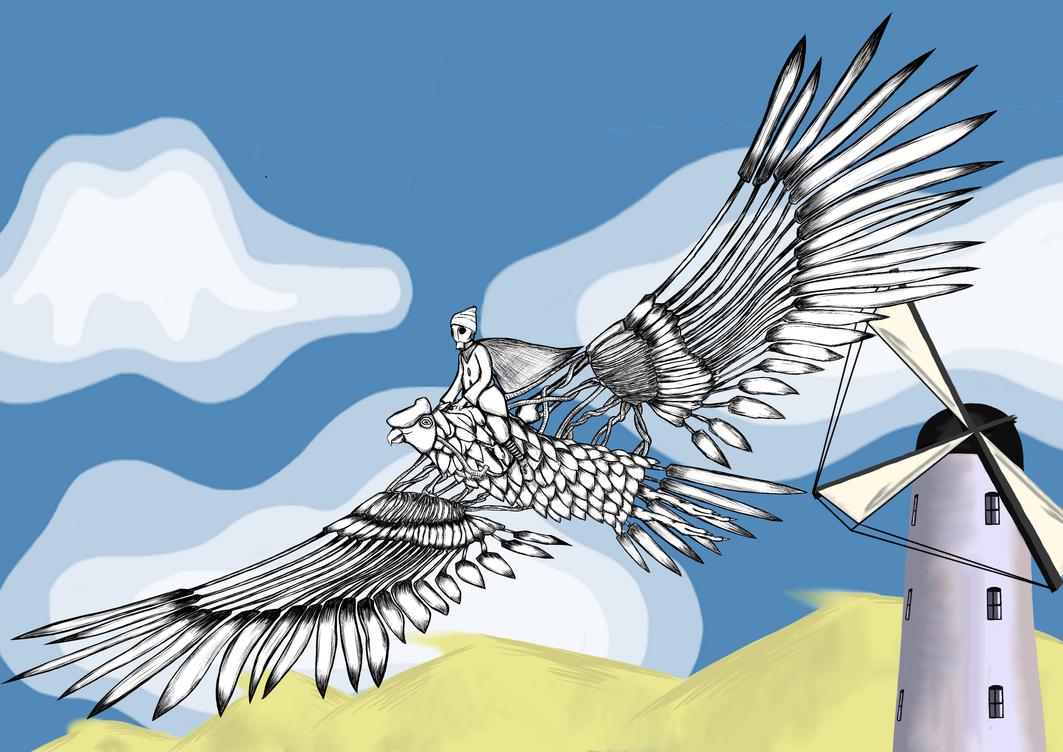 Far (Away) Biomechanical Condor Concept Art by Alverspin