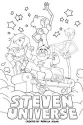 Steven Universe Line Art By Latianamca On Deviantart