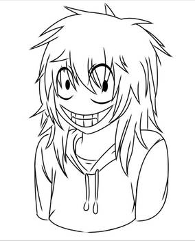 Jeff The Killer Lineart/coloring page
