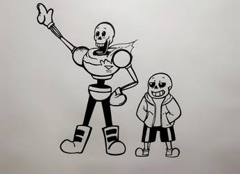 The great Papyrus and Sans  by Ziknale