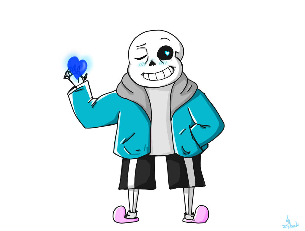 Sans congratulates you on Valentine's Day by Ziknale