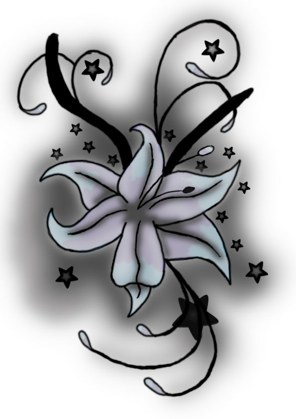my first ever digital flower tattoo design by spirantharpy on deviantart. Black Bedroom Furniture Sets. Home Design Ideas