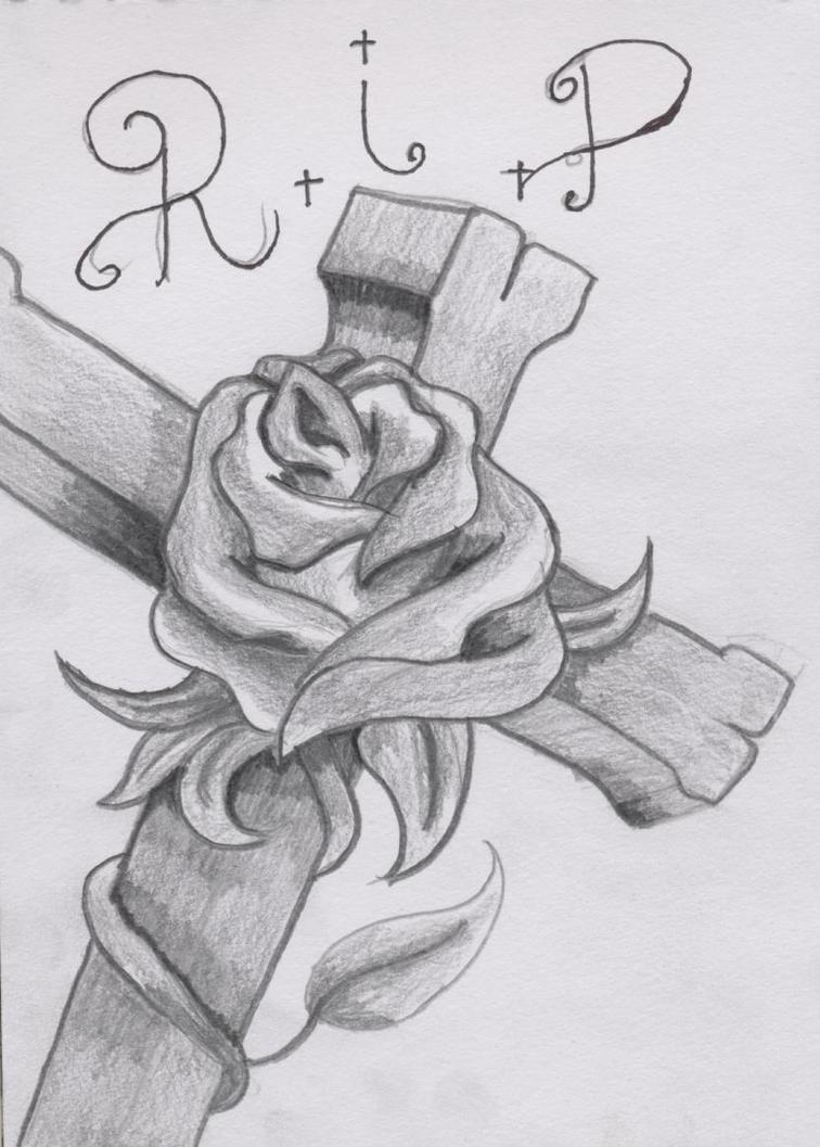 cross and rose tattoo design by spirantharpy on deviantart