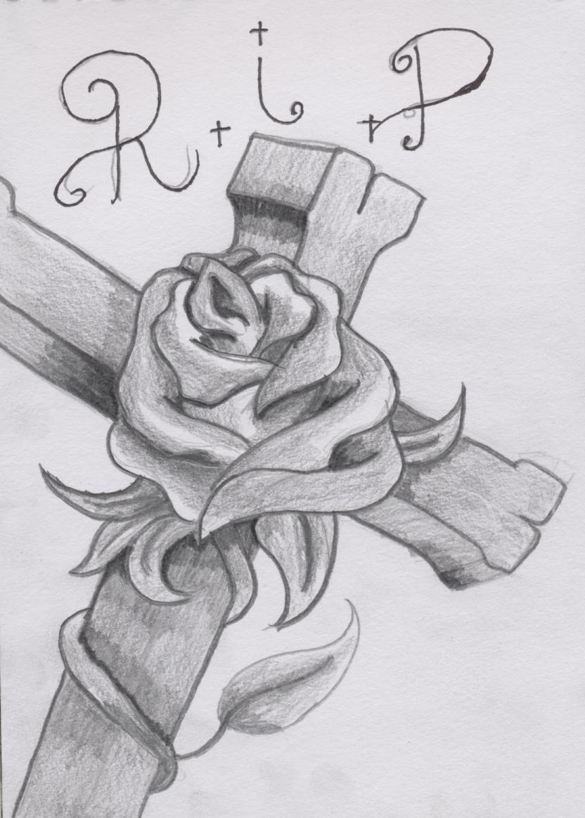 Cross and Rose Tattoo Design by SpirantHarpy on DeviantArt
