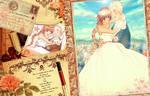A romantic wedding . . .