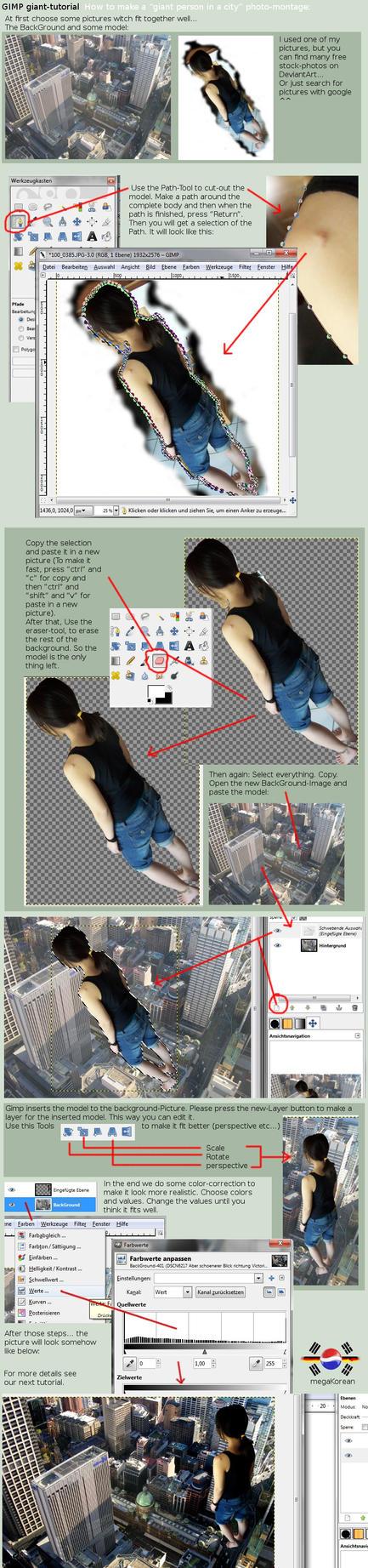 gimp giant-manip tutorial 01 by megakorean