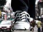 giant walking in india