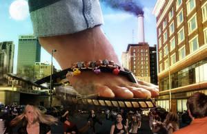 SteppingOnCars by megakorean