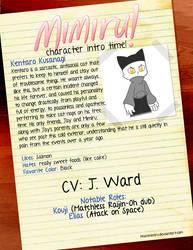 Character Intro: Kentaro Kusanagi