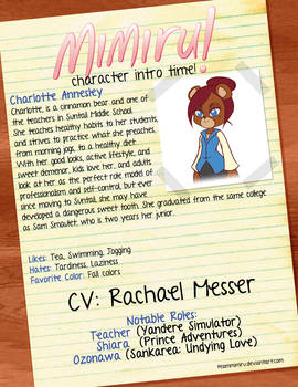 Character Intro: Charlotte Annesley