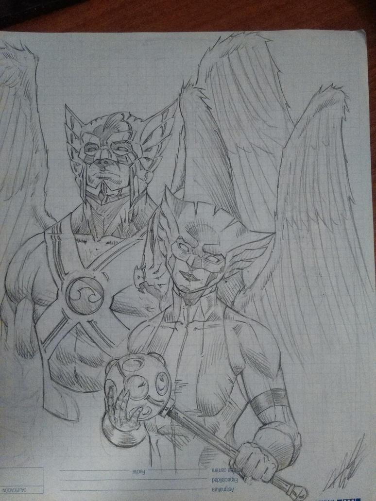 Hawkgirl/Hawkman by Alexsl96