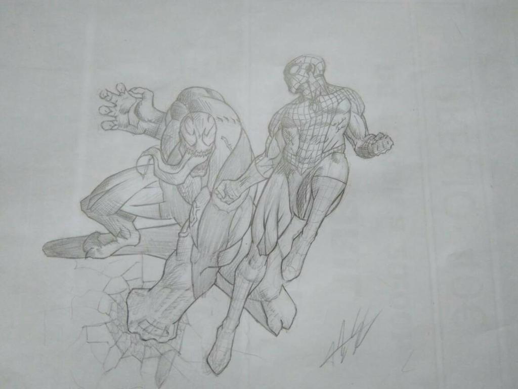 Spiderman vs Venom by Alexsl96