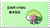 stamp - shaymin 492 by sable-saro