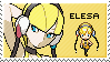 gym leader elesa stamp by sable-saro