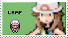 pokemon trainer leaf stamp by sable-saro