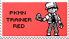 old school pkmn trainer red stamp by sable-saro