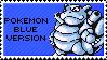pokemon blue version stamp