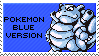 pokemon blue version stamp by sable-saro