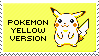 pokemon yellow version stamp by sable-saro