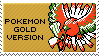 pokemon gold version stamp by sable-saro