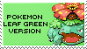 pokemon leaf green version stamp by sable-saro