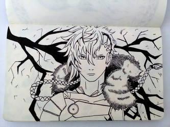 Kamigami no asobi - Thor in god form by suraZcat