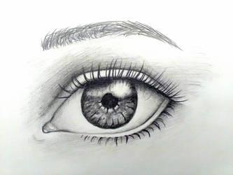 Realistic eye by suraZcat
