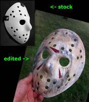 Jason Vorhees mask stylization by Kalasznikow47
