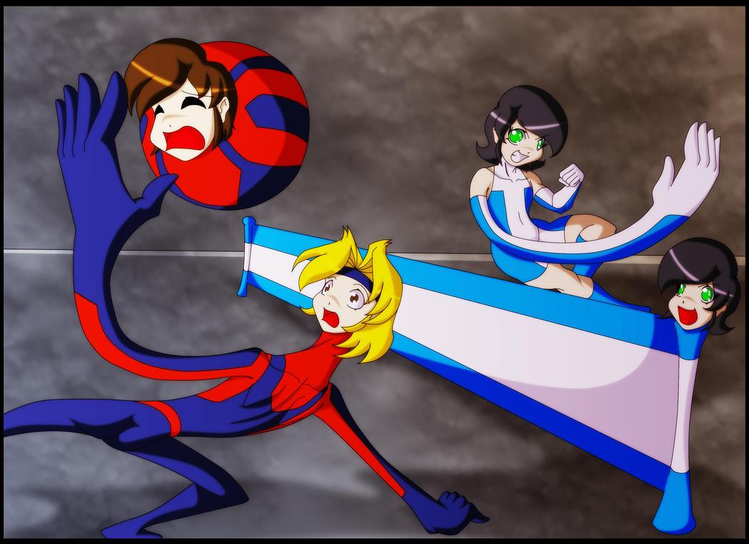 Elastic boys vs Elastic girls by Animewave-Neo