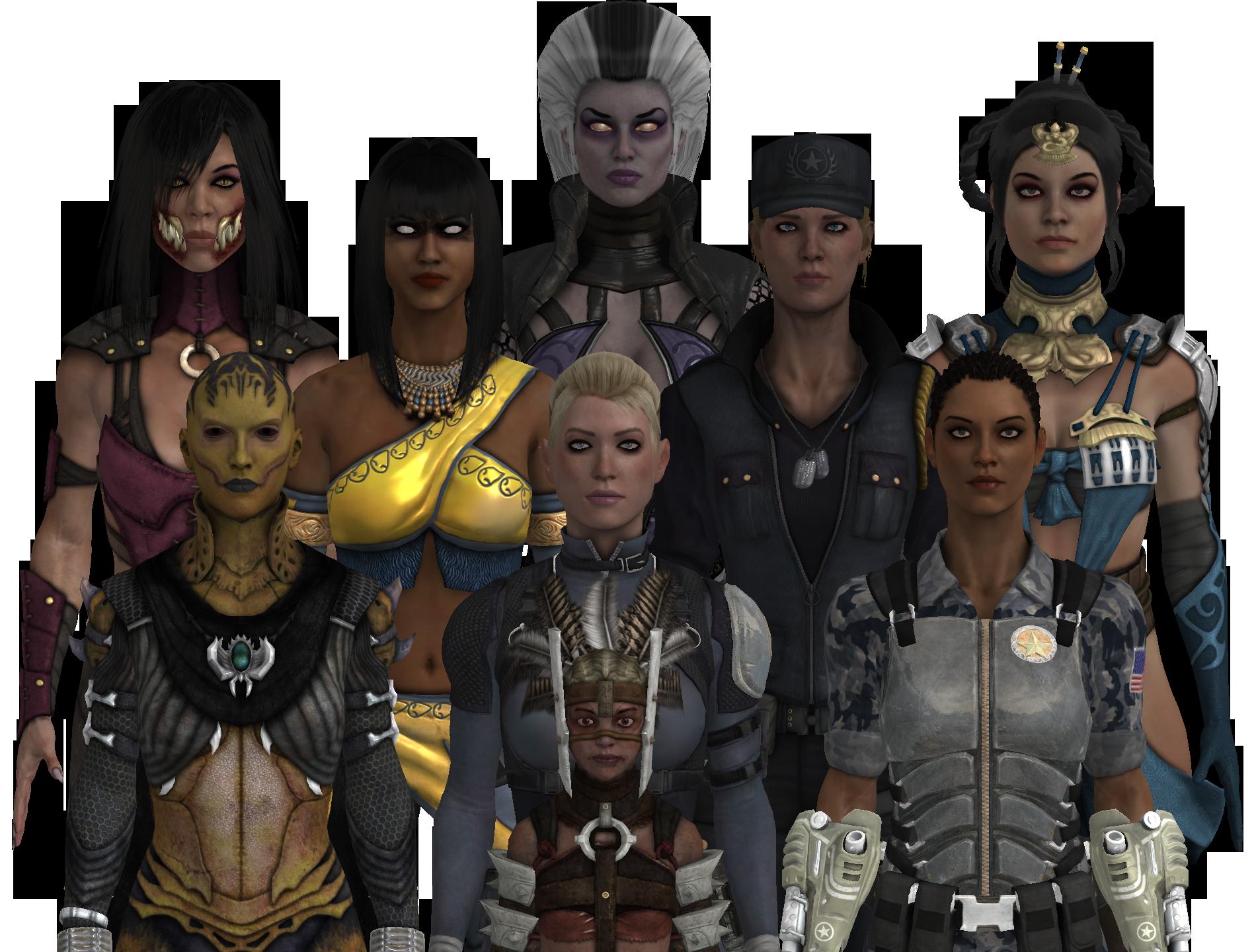 Mortal Kombat X Girls By Oinie04 On Deviantart