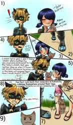 Miraculous Ladybug fancomic: Cat Fight by PatchedUpArtist