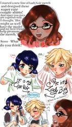 Adrienette: Couple T-shirts by PatchedUpArtist