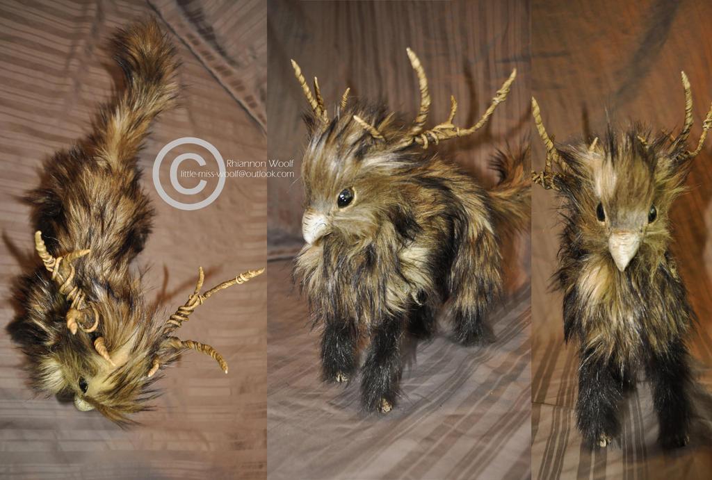 OOAK -Gryphon/deer- Handcrafted- Rhiannon Woolf by RhiannonWoolf