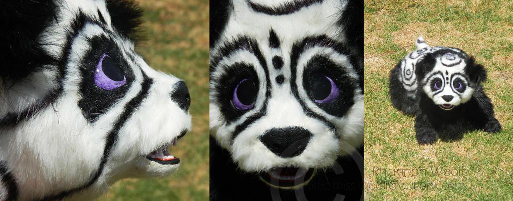 Fantasy tundra Panda -Handcrafted- Rhiannon Woolf by RhiannonWoolf